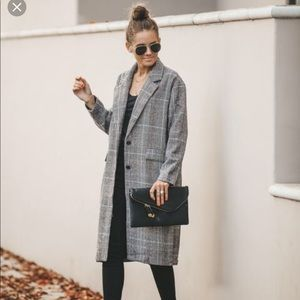 NWT VICI HOPE POCKETED PLAID TRENCH